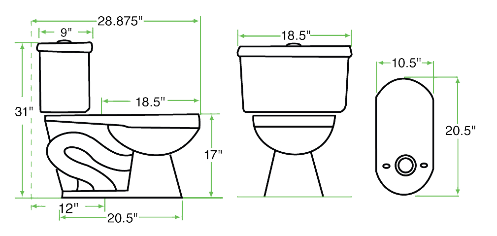 Emejing Dimensions Of Elongated Toilet Gallery Best image 3D